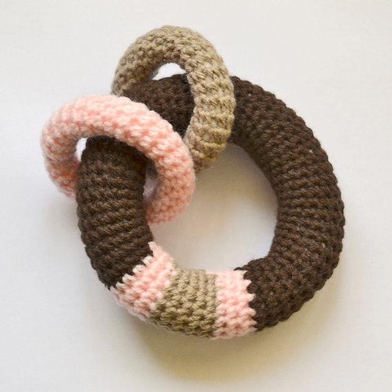 Amigurumi Crochet Rattle Loop Baby Toy