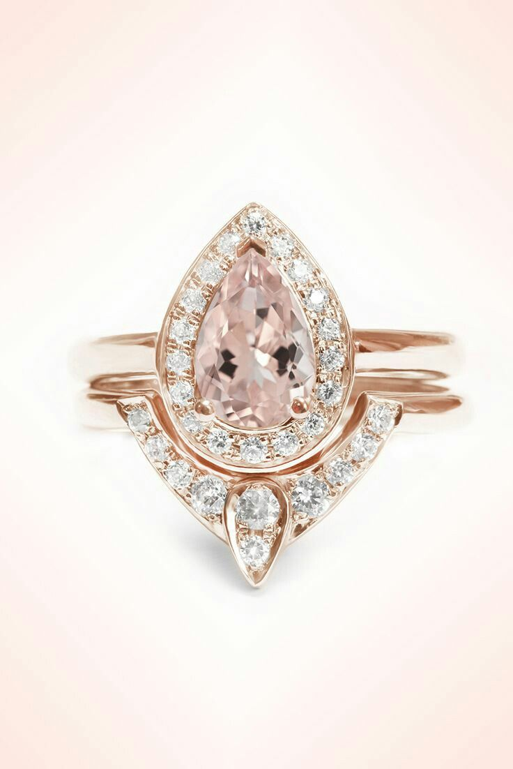 25 best ideas about Pear Ring Set on Pinterest
