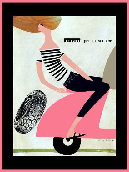 Love this Vespa Pirelli vintage advertising poster - available to buy via Mark Rogan Photography £14