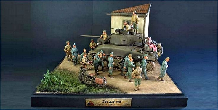 Operation cobra wwii scale model diorama 1 35 scale for Scale model ideas