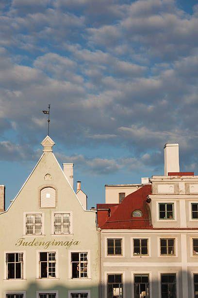 Buildings on Town Hall Square, Tallinn, Estonia
