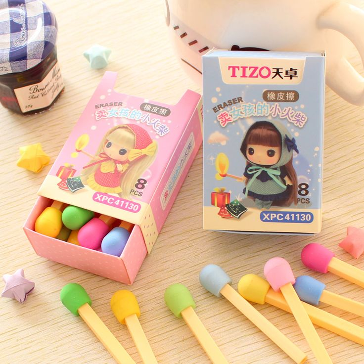8 Pcs / Pack Cute Korean  Rubber Stationery Stationary Match Pencil Eraser Erase #>=#>=#>=#>=#> Click on the pin to check out discount price, color, size, shipping, etc. Save and like it!