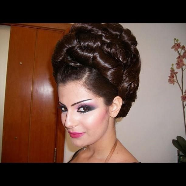 Pin by Zsófia Pink on Beautiful Hair and Make-up   Pinterest   Updo, Arabic makeup and Updos