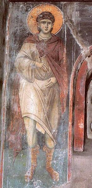 АПОСТОЛ ФОМА Роспись собора Протата в Карее (Афон)