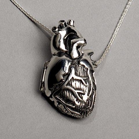 peggyskemp: Original Silver Anatomical Heart Locket