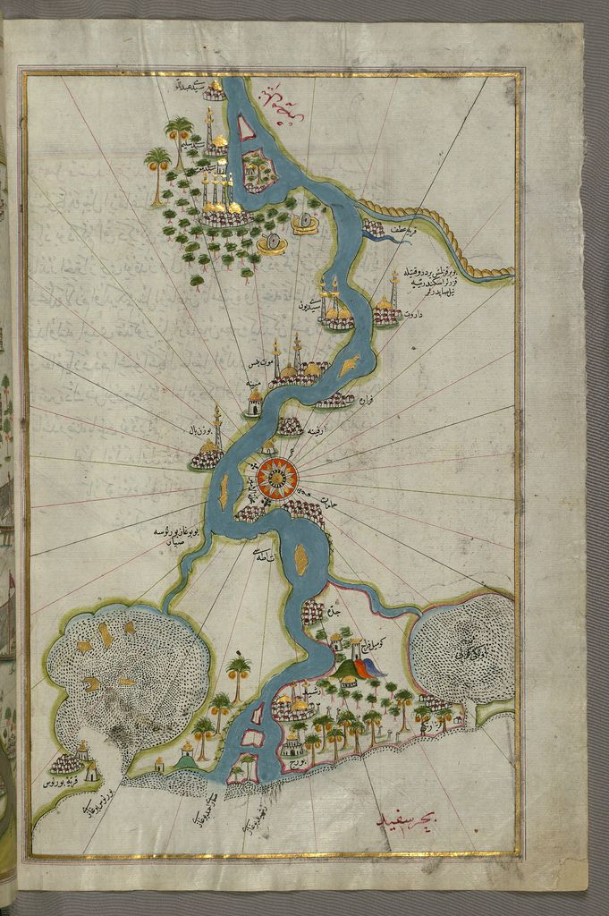 Map of the river Nile from its