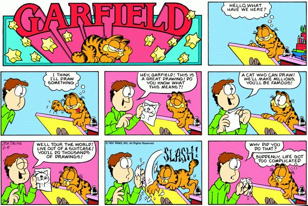 Hey if you're going to stick it out, mice are going to use it.   Favorite  Garfield & Mice Comics   Pinterest   Mice, Garfield comics and Humor