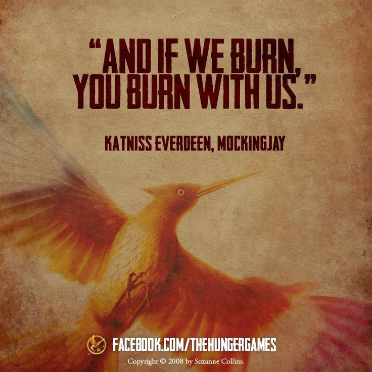And if we burn, you burn with us.