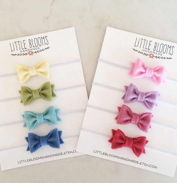 The original tiny felt bow headbands. How cute are these?! These headbands are the perfect simple touch to any outfit.    These perfectly
