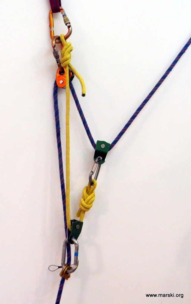 Marski - Expeditions, Mountaineering and Climbing - Mounting a 5: 1 Rescue System