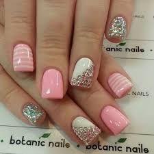 Resultado de imagen para uñas decoradas con gelish rosa