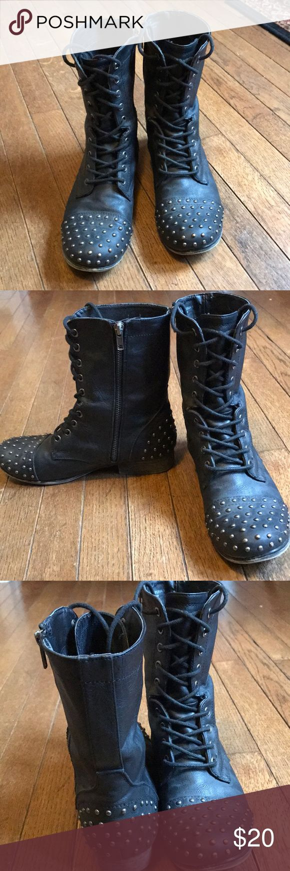 Madden Girl studded combat boots Size 8 Madden Girl combat boots Madden Girl Shoes Combat & Moto Boots