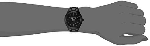 5cbbf16e37cc Michael Kors Women s Mini Slim Runway Black Watch MK3587