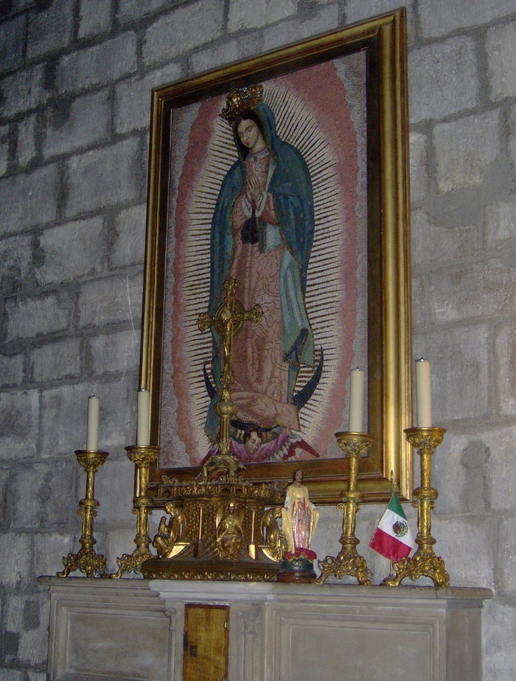 Guadalupe At Notre Dame Cathedral Paris France