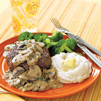 Ground beef recipes: Ground Sirloin with Mushroom Cream Sauce < Ground beef recipes - AllYou.com
