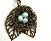 Birds Nest Necklace, DIY