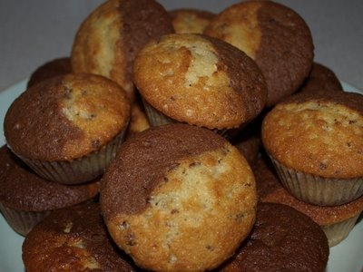 Nutella, Kinder Bueno, and white chocolate cupcakes- made from the best stuff on earth!