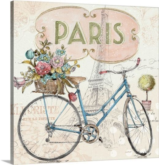 Paris bike #vintagefrenchprintables