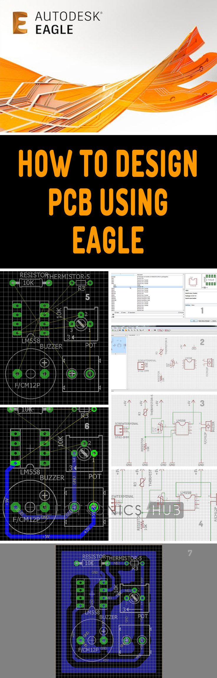 After downloading and installing the Eagle CAD (you might need to register with Autodesk), open the Eagle Software from the desktop shortcut. You will get the control Panel of the Eagle.