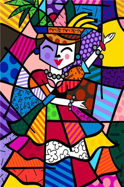 Envío Gratis RB Carmen Romero Britto Custom Canvas Pósteres Pintura Fondos de Pantalla de Peces de Dibujos Animados Pegatinas de Decoración Del Hogar Regalo # PN #930 #(China (Mainland))