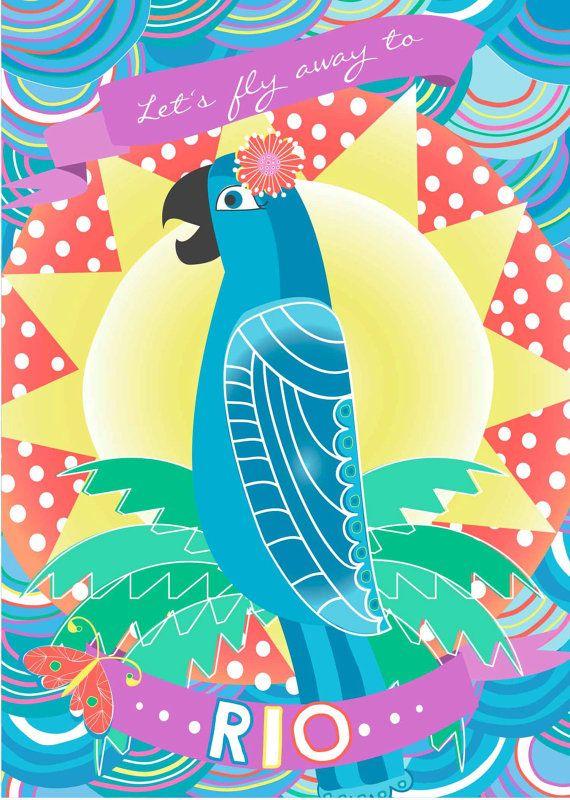 RIO Jewel // Brazilian Carnival Birthday by LittleBohemianPapier