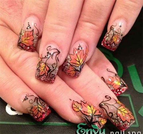 93 best uas marrones images on pinterest beautiful pretty 15 amazing fall autumn nail art designs ideas trends stickers 2014 prinsesfo Images