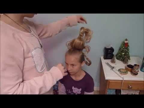 How to do Cindy Lou Who hair   Brookie Rae - YouTube