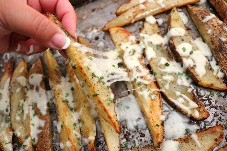 The Most Buttery Crisp Seasoned Potato Wedges Ever!