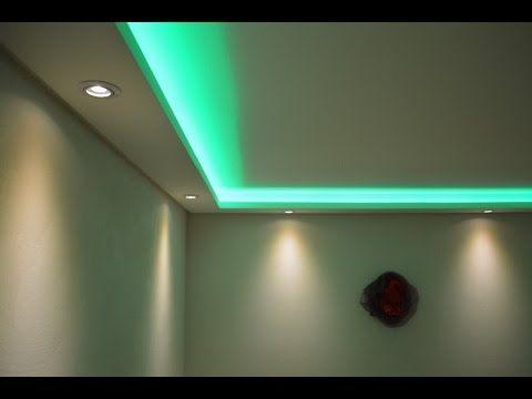 Elegant Stuckleisten Lichtprofile f r indirekte LED Beleuchtung mit Spots LED