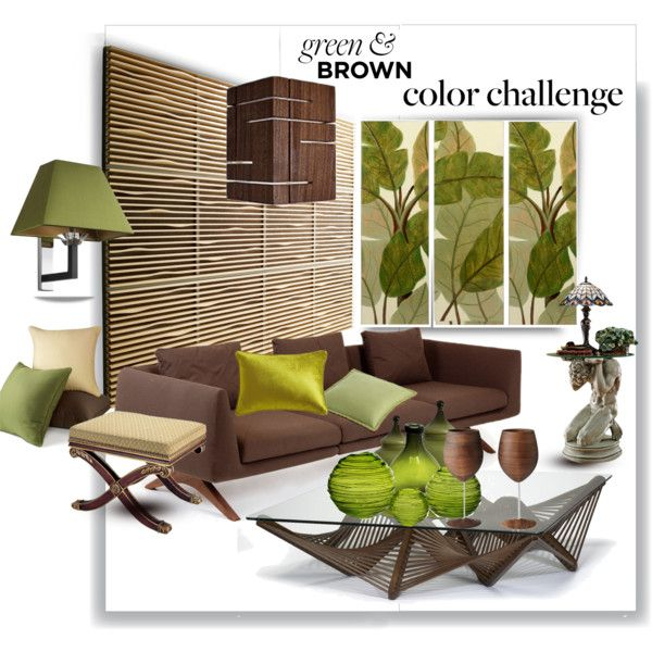 """""""Color Challenge: Green and Brown"""" by betiboop8 on Polyvore"""