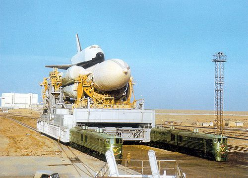 Abandoned shuttle from the Russian Buran Space Program