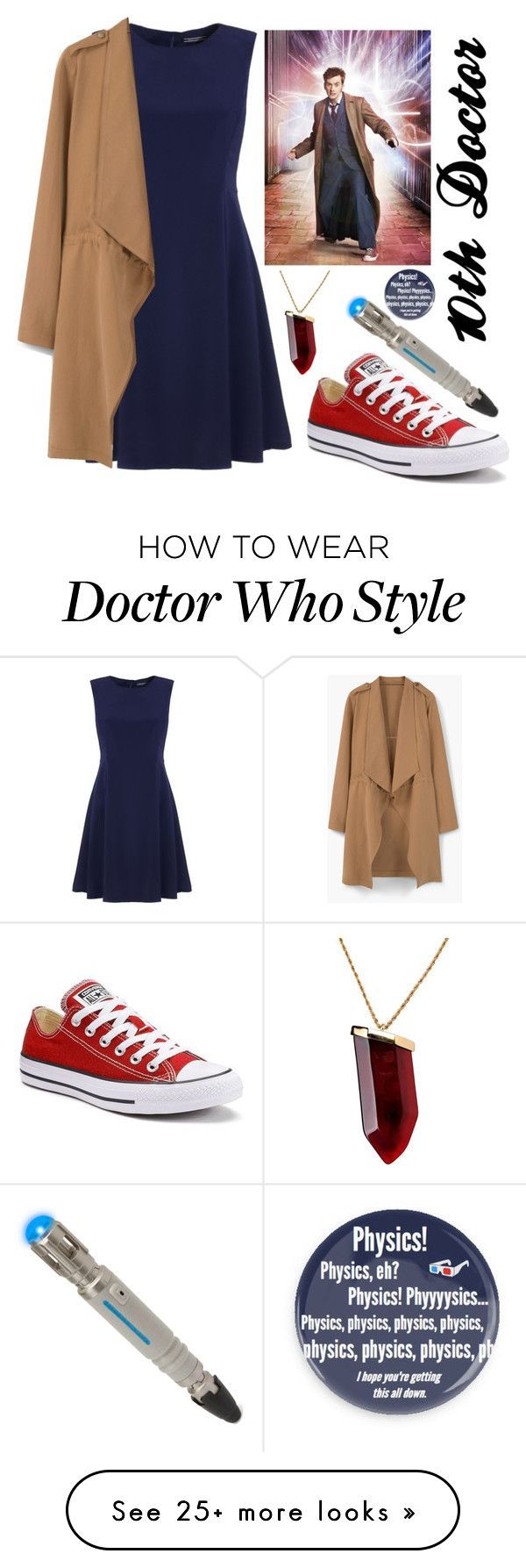 """""""Doctor Who Halloween Costume or something, 10th Doctor"""" by lizacatsforever on Polyvore featuring Tommy Hilfiger, MANGO, Converse and Kenneth Jay Lane"""