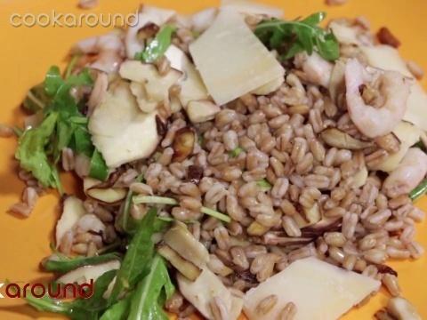 Farro, porcini e gamberetti | Cookaround