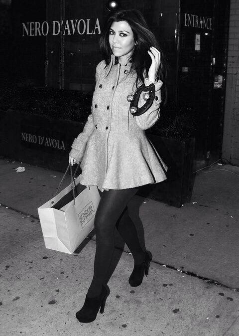 Kourtney Kardashian Winter Fashion