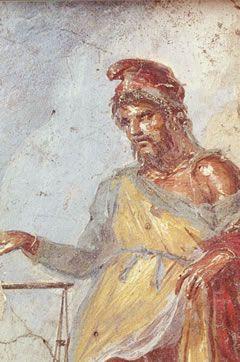 En la pintura romana va a influir decisivamente el arte griego, ya que ya desde la época de César llegaron pinturas griegas que arrancaban de las paredes y se llevaban a Roma. Ésta es una de las razones por las que apenas se conservan pinturas murales griegas.