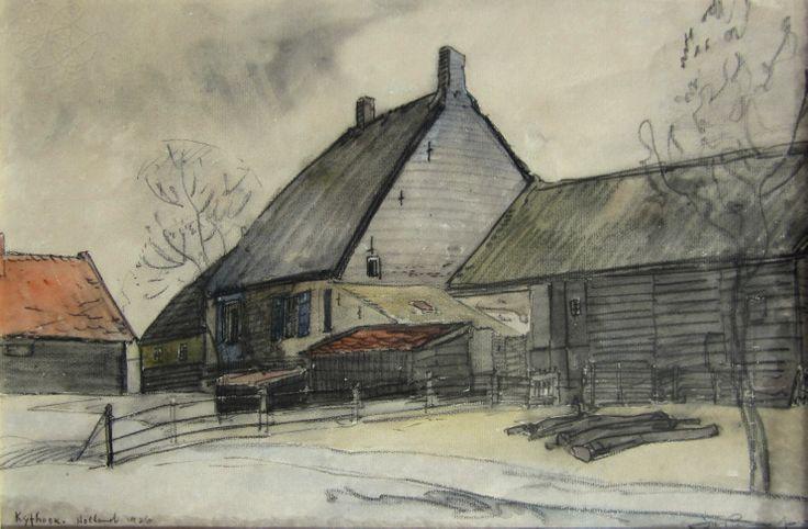 JH Pierneef, Mixed media on paper, 310 x 470mm, Kyfhoek