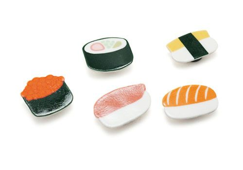 These tiny sushi magnets are sure to keep things fresh.
