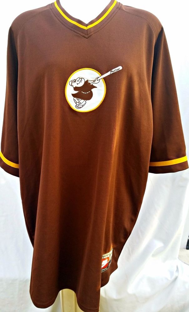 factory price 7fafc 38a20 Nike Mens Baseball Jersey Brown San Diego Padres Size XXL ...