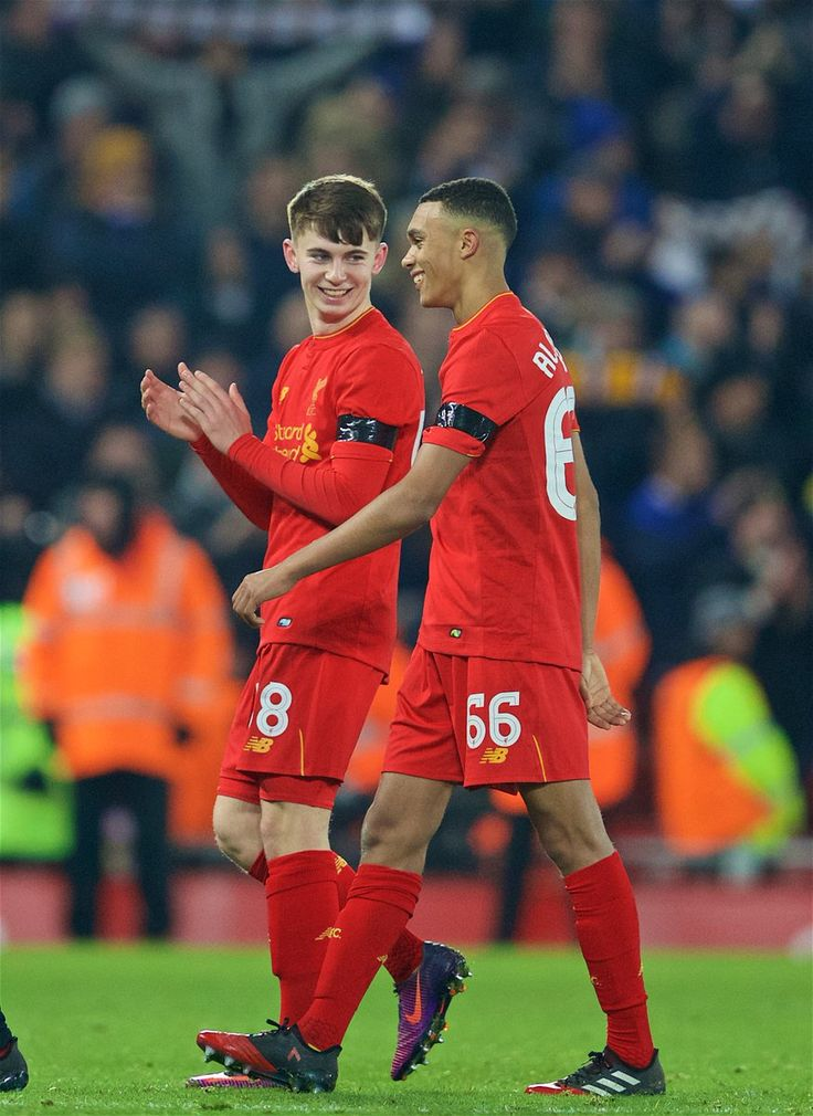 Our future is bright Red. Ben Woodburn and Trent Alexander-Arnold