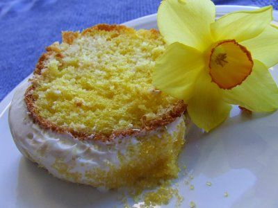 Daffodil Cake for St. David's Day from CatholicCusine.com. Saint David is the patron saint of Wales and perhaps the most famous of British saints.  His feast day is March 1. The daffodil is associated with St. David because it is a Welsh symbol that blooms in March.