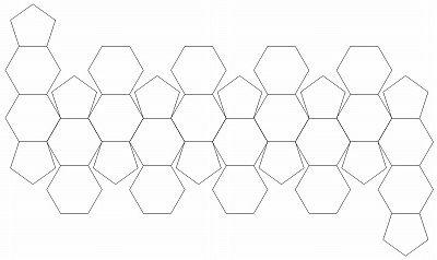サッカーボールの型紙 ~ エクセルでひと手間かけて正六角形を作図します - 日だまりのエクセルと蝉しぐれ
