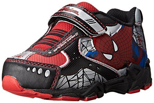 Disney Marvel SpiderMan Athletic 355 Shoe ToddlerLittle Kid Black 7 M US Toddler ** Check out this great product.