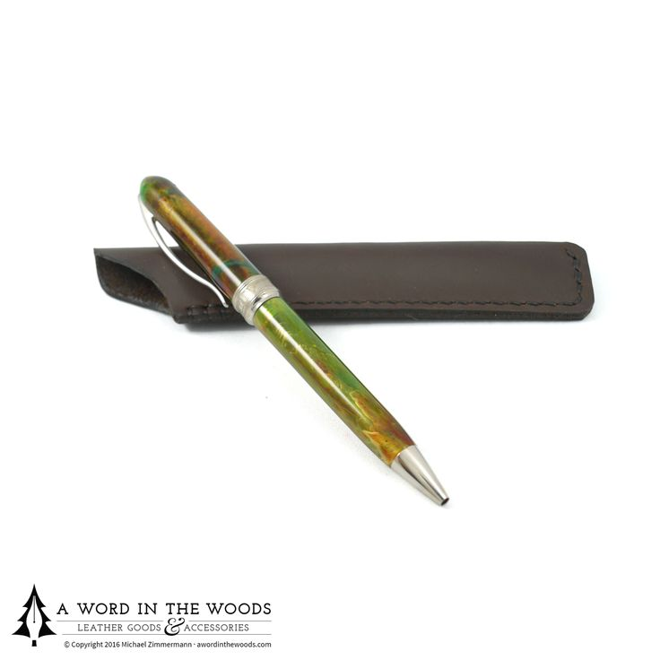 If the pen is truly mightier than the sword, it deserves a fitting sheath. You've invested in a good quality writing instrument, so protect it like you would any of your essential tools with this hand stitched pen sleeve.