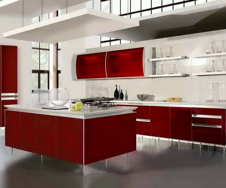 Unique And Modern Red Kitchen Cabinets Luxury Red Kitchen Design Ideas . Part 79