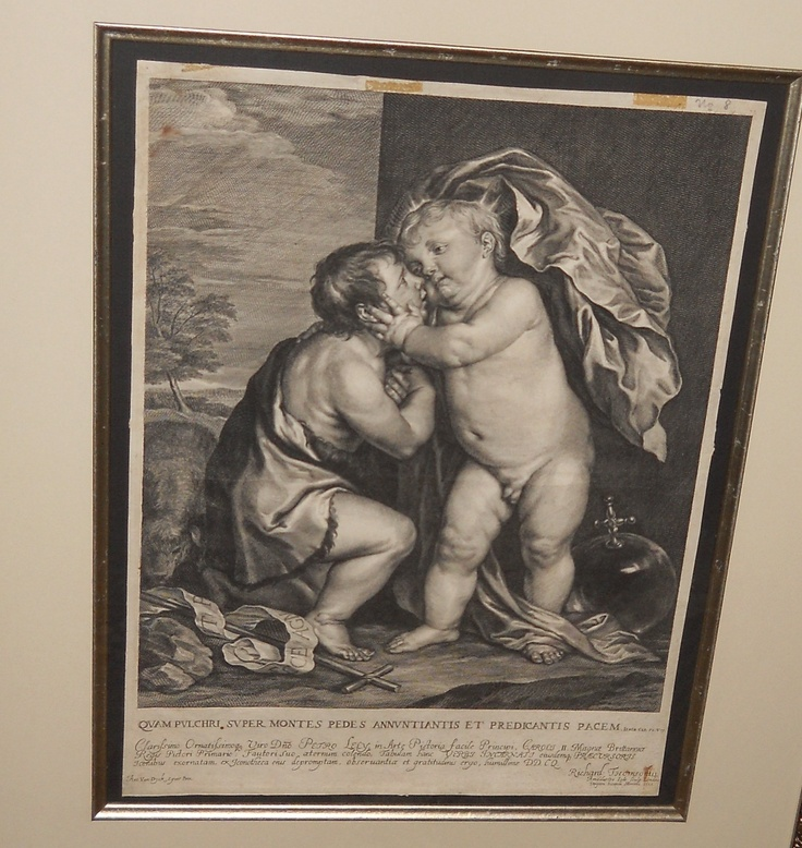 Sir Anthony Van Dyck  The Infants Jesus Christ and St. John the Baptist   1666 apart of my collection. One just like it in The British Museum.