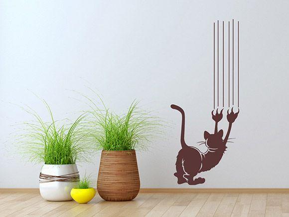 Das Wandtattoo mit der lustigen Katze sorgt für eine stimmungsvolle und heitere Atmosphäre. Dekorieren Sie Ihre Wände mit diesem lustigen Design.