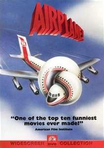 Airplane! (1980). Starring: Robert Hays, Kareem Abdul-Jabbar, Lloyd Bridges, Peter Graves, Robert Stack, Barbara Billingsley, Joyce Bulifant, David Leisure, Ethel Merman and Jimmie Walker