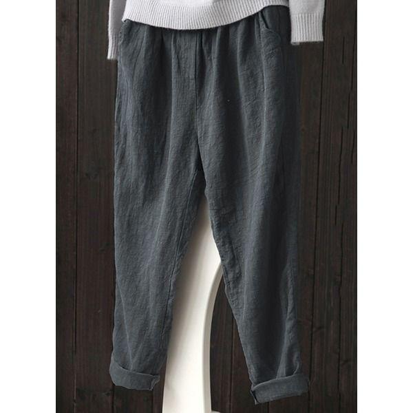 Women S Plus Size Straight Pants 01745501199 In 2020 Leggings Are Not Pants Solid Color Pants Straight Pants