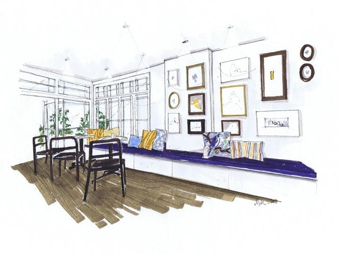 Michelle Morelan illustration #blue#design#illustration