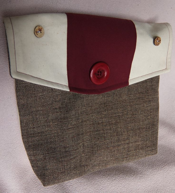 Canvas handbag as clutch - you can better see the buttons in this picture. 2013